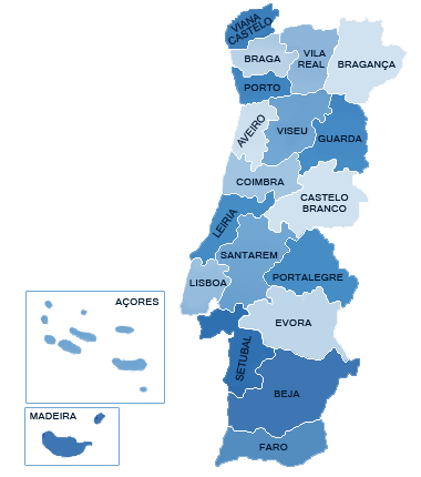 mapa dos distritos portugal SEFSTAT – Portal de Estatística mapa dos distritos portugal