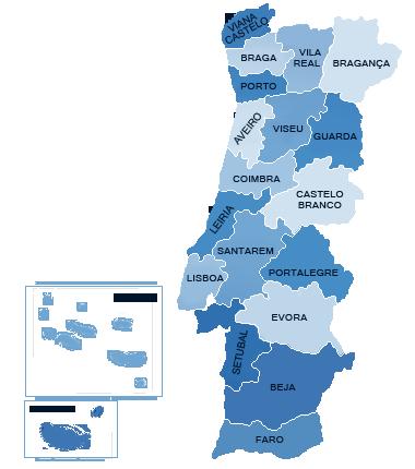 Mapa De Portugal Continental Completo.Mapa De Portugal Distritos Thujamassages